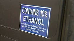 Studies show straight gasoline gets  to  percent better gas mileage than fuel made with ethanol, an alcohol produced from corn, but gasoline with ethanol costs about  cents less per gallon at the pump