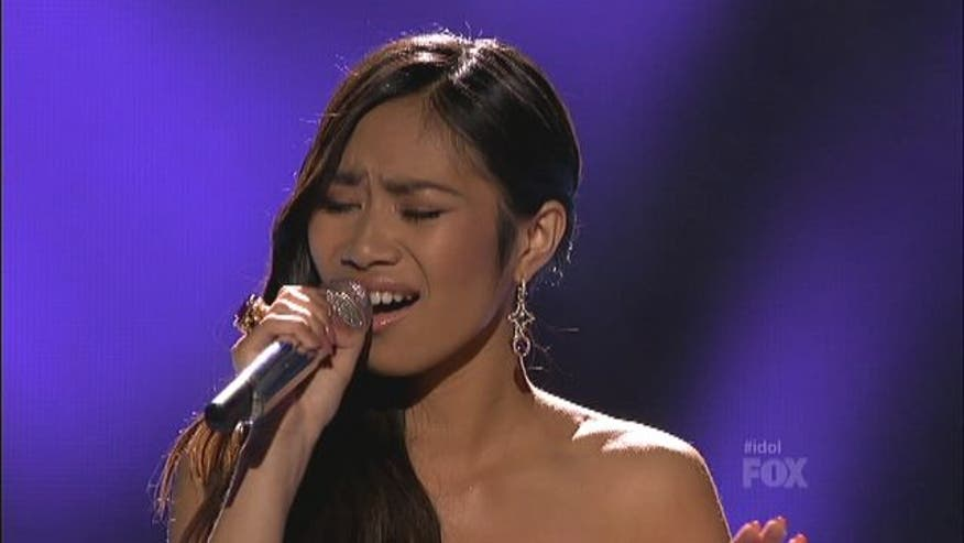 "Mexican/Filipino singer Jessica Sanchez takes on Mariah Carey's ""My All"" on American Idol."