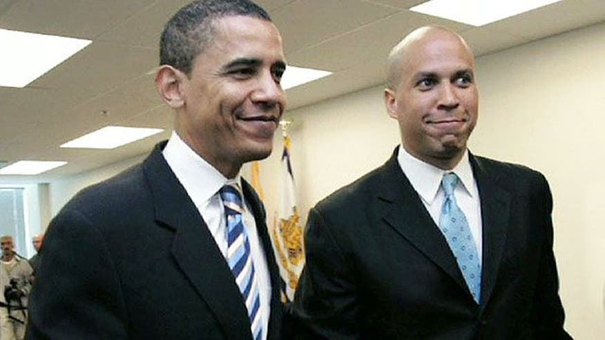 Booker retreats on condemnation of Obama