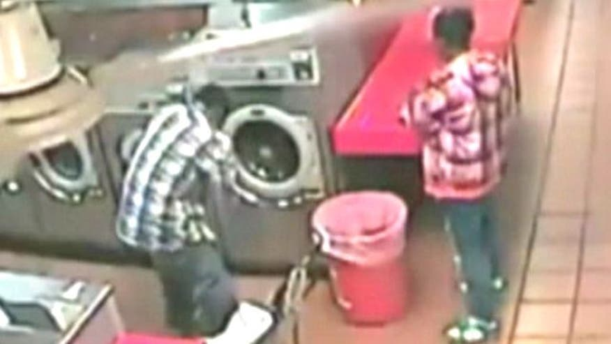 Laundromat attendant comes to the rescue after father puts child in washer