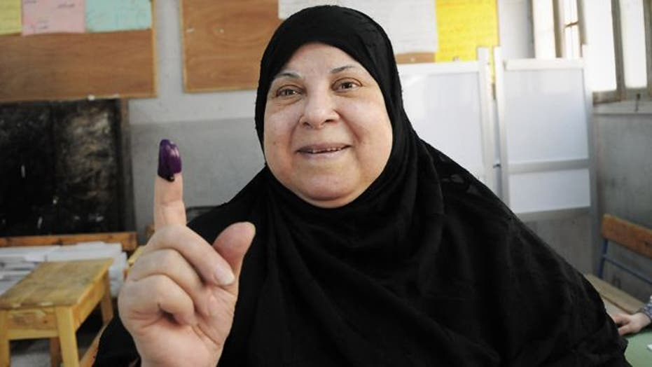 Egyptians vote in first free election in nation's history