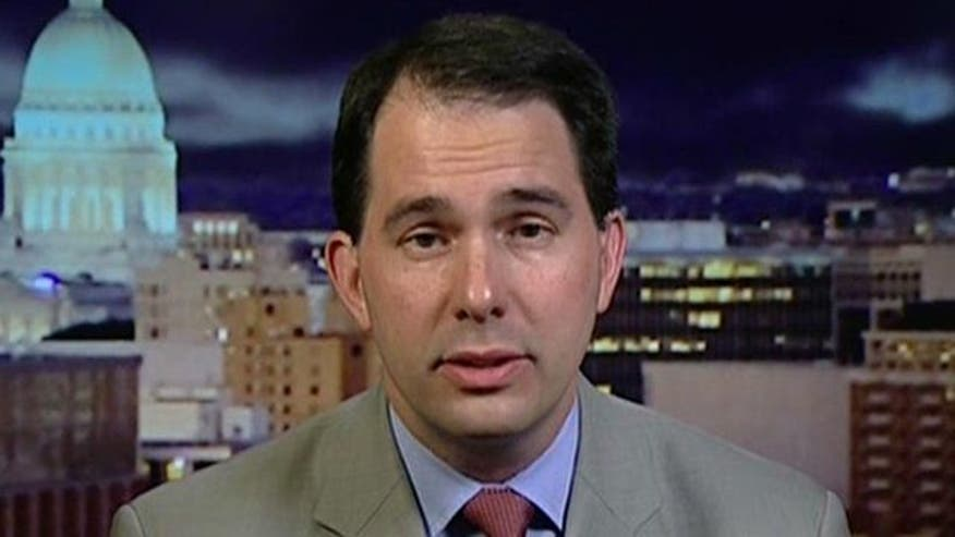 Wisconsin governor talks recall vote, 2012 election