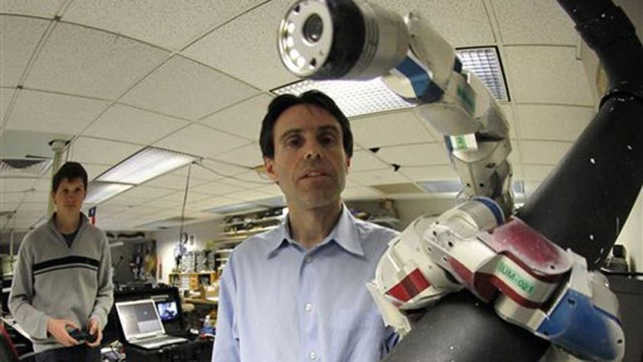 Using robots inside patients for surgery