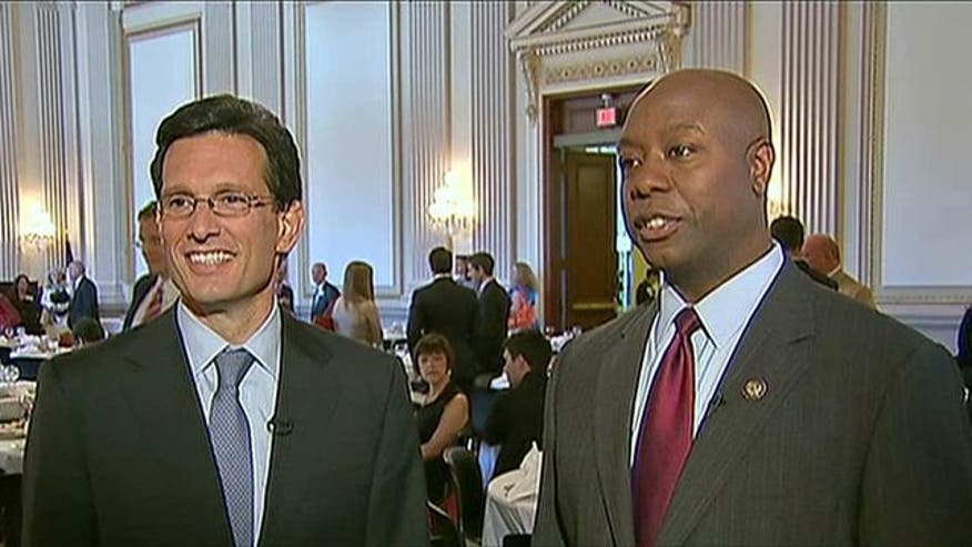 Rep. Tim Scott and House Majority Leader Eric Cantor discuss their conference to encourage small business owners and ideas to boost the economy