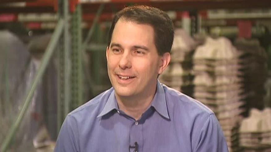 Wisconsin governor on recall vote, approval rating