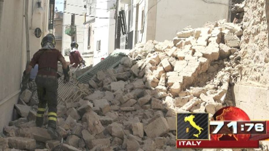 Around the World: Explosion levels buildings in Italy
