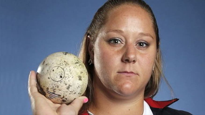 Shot putter whose brother serves in military discusses what it means to represent her country at 2012 London Games