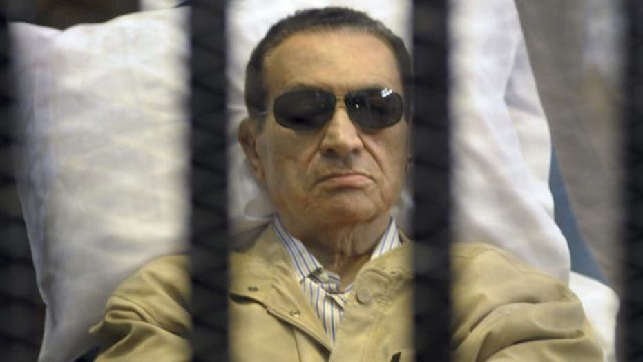 Former Egyptian president on life support