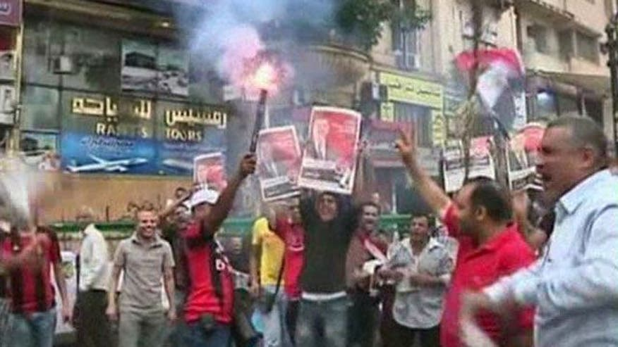 Egyptians demonstrate against military coup