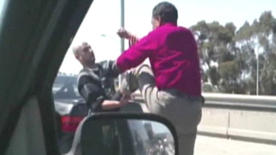 Vicious road rage incident caught on tape