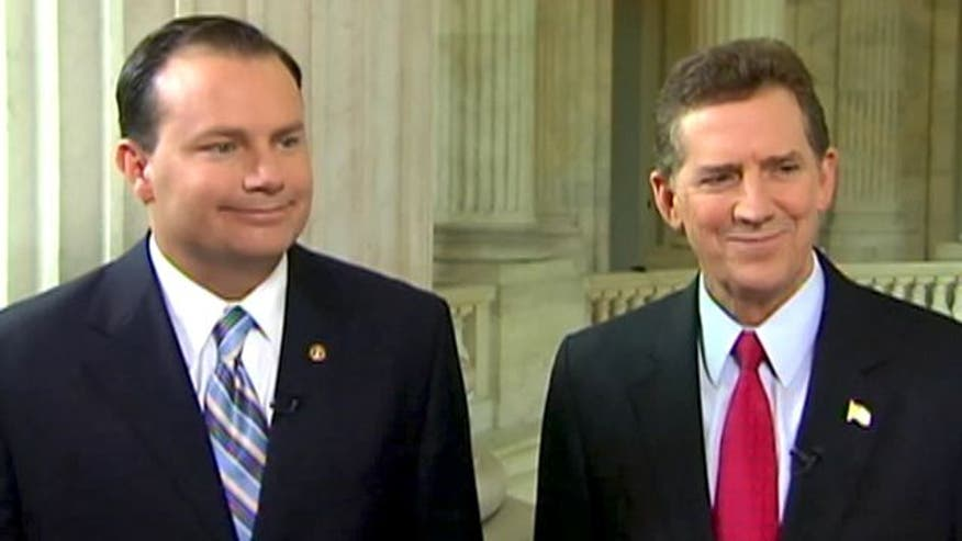 Senators Jim DeMint, Mike Lee on formal promise to oppose any debt limit increases unless three conditions are met