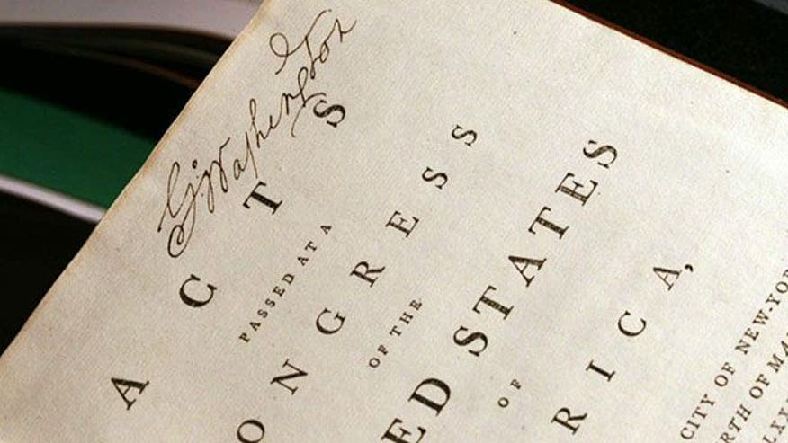 Rare 223-year-old book owned by the first president sold at auction