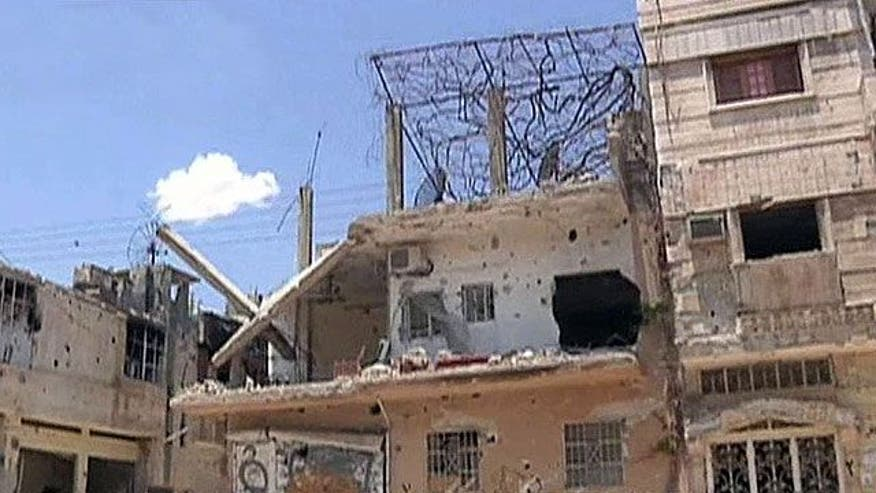 War-torn city Syrian cities turned into ghost towns
