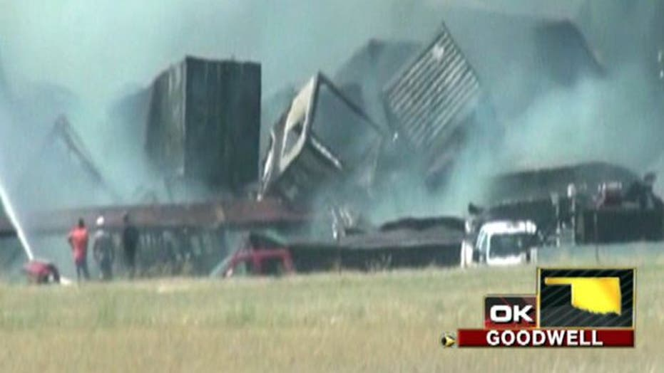 Across America: Freight trains crash in Oklahoma