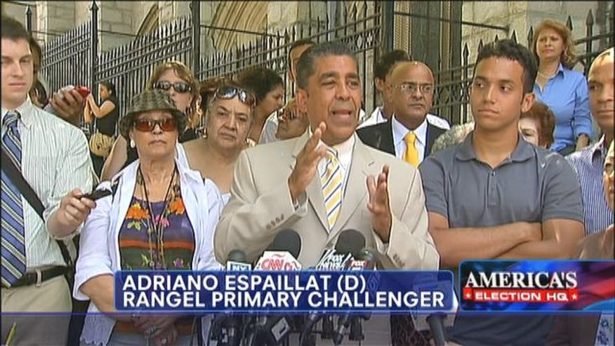 Rep. Charlie Rangel's (D-NY) challenger claims voter suppression in primary.