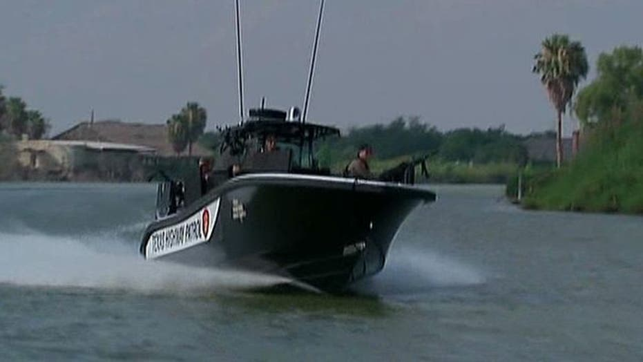 Armored gunboats deployed to patrol the Rio Grande