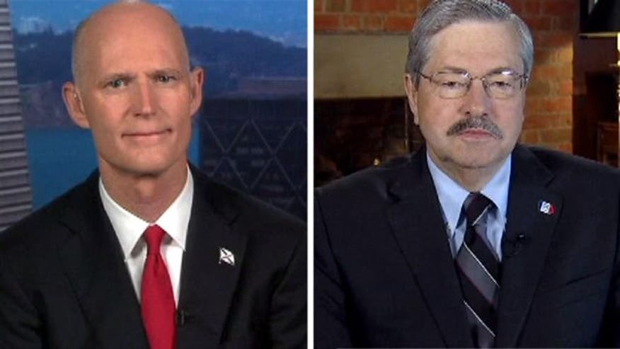 Fla. Gov. Rick Scott and Iowa Gov. Terry Branstad weigh in