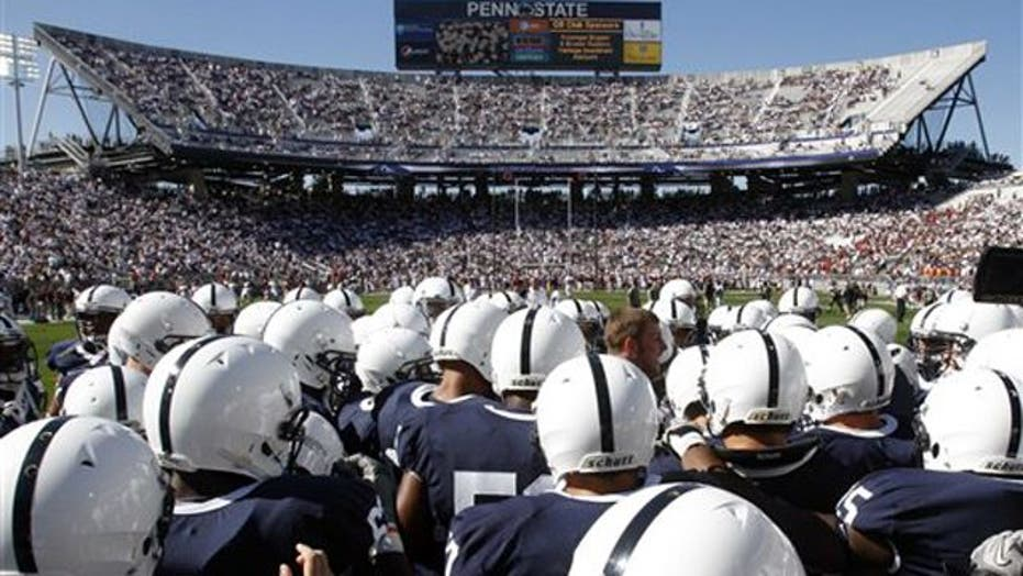 NCAA slaps Penn State with unprecedented sanctions