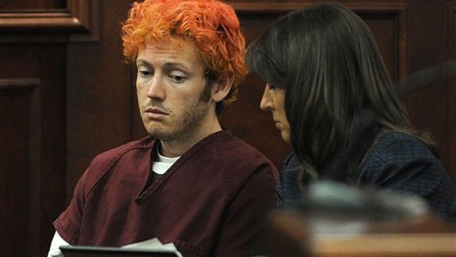 What does court appearance reveal about James Holmes?