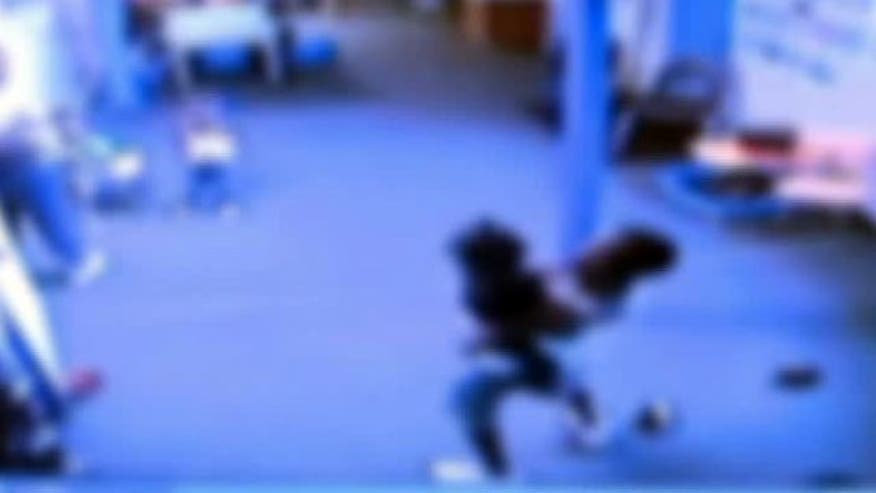 Raw video: 9-year-old boy attacks younger kids, infant at day care