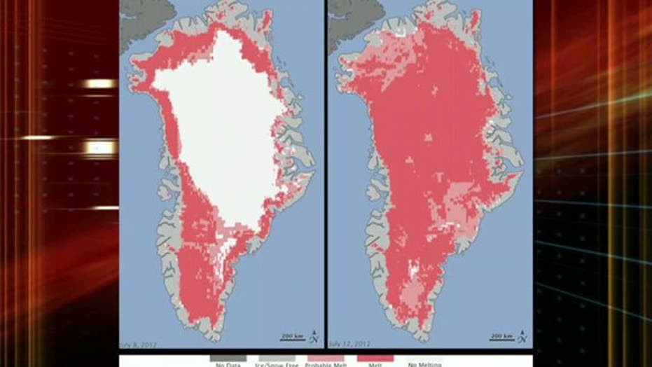 Grapevine: NASA images show ice melt in Greenland