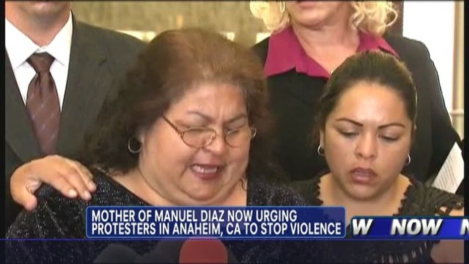 Mom Begs Anaheim to Stop Violence Over Son's Death