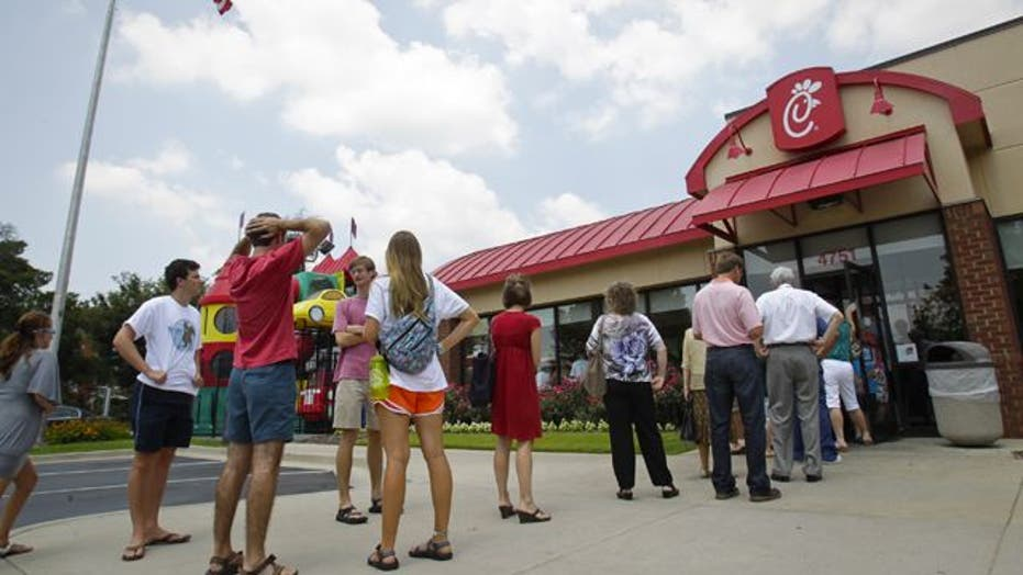 Chick-fil-A restaurants across US swamped by diners