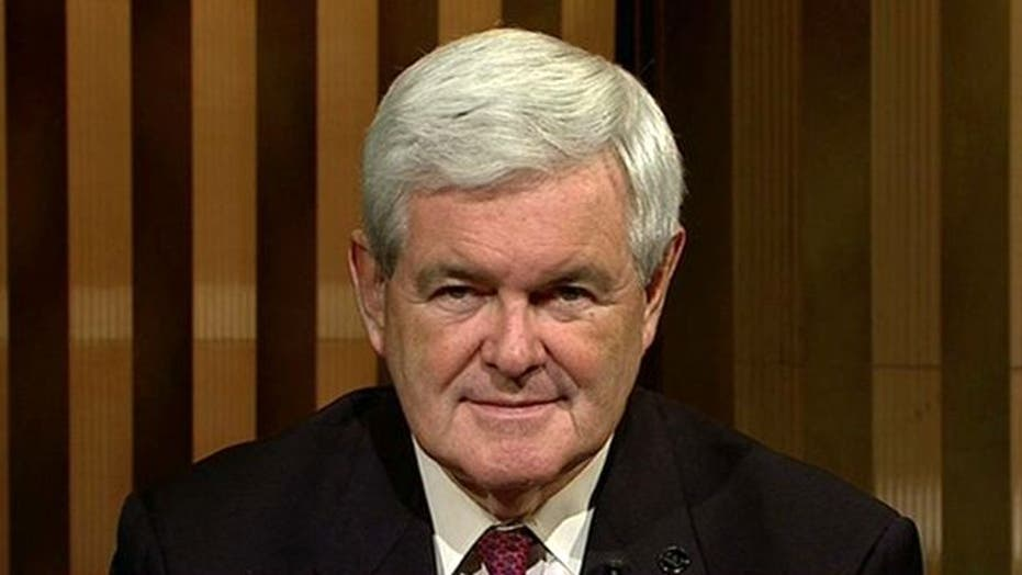 Newt on Dow Dive, Creating Jobs