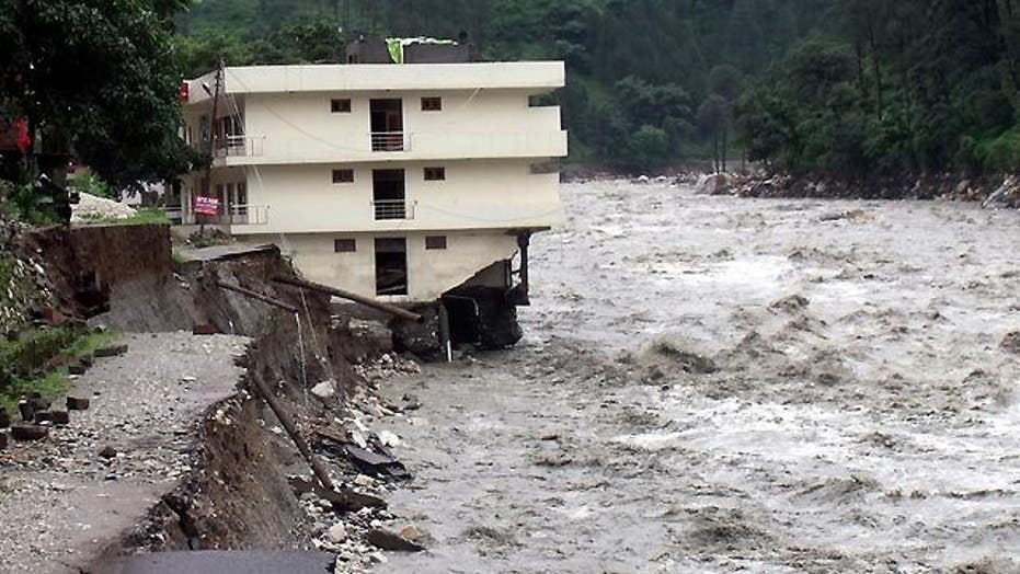 Around the World: Storms cause building collapse in India