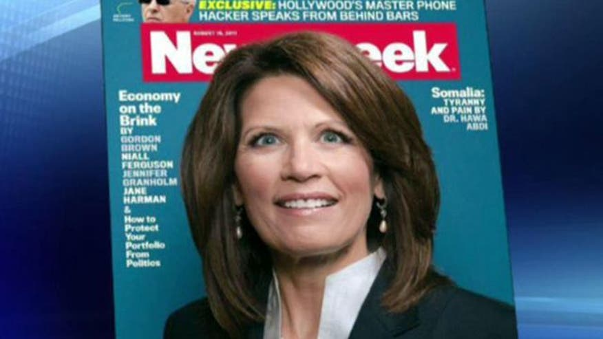 Did magazine deliberately try to make Michele Bachmann look bad?