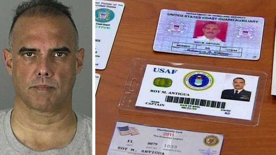 Cops find fake IDs, uniforms after arresting mystery man