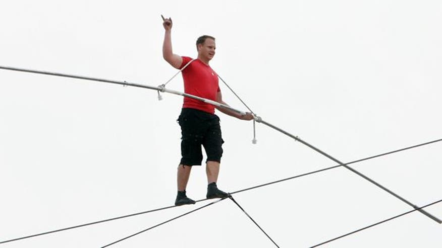 Daredevil completed 1300 foot walk