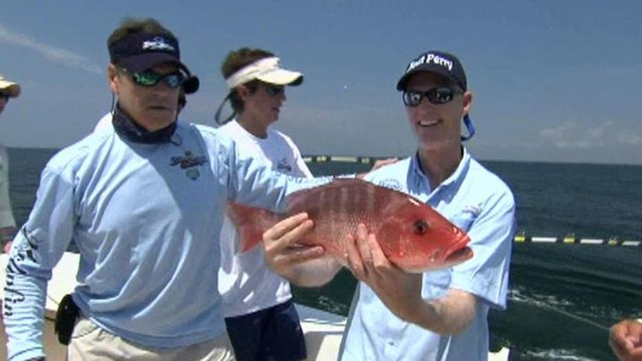 Texas, Fla. governors 'fishing' for top spot in job creation