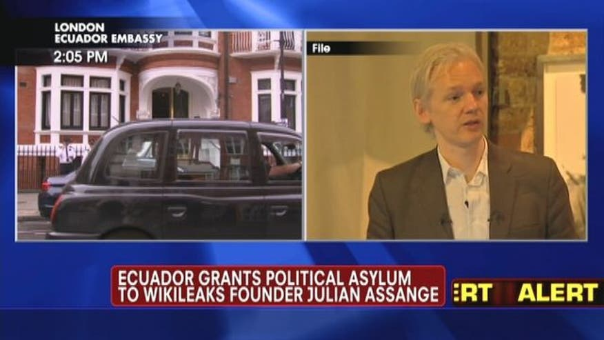 Ecuador grants political asylum to Wikileaks founder Julian Assange.
