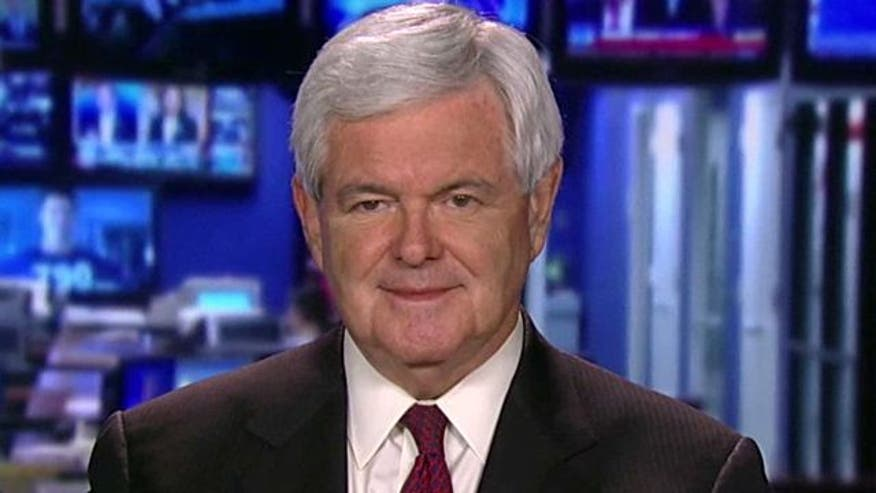 2012 candidate Newt Gingrich on president's economic policies, handling of Libyan conflict