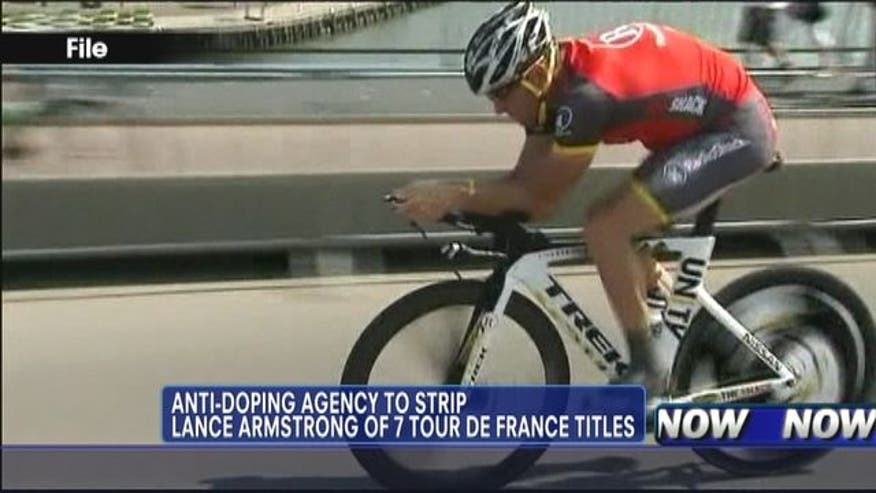 His decision could lead to him being stripped of his seven Tour de France titles all but wiping out his name from the record books of the sport he once ruled.