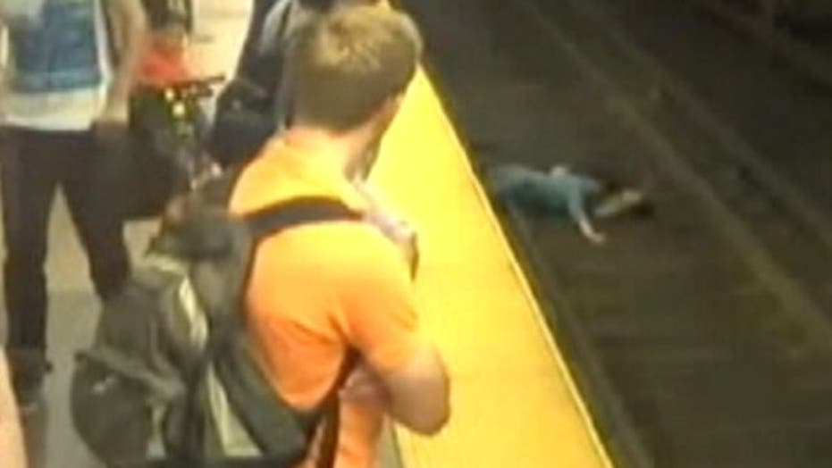 Mom, child rescued after falling onto Boston subway tracks
