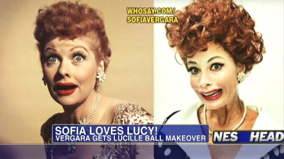 Sofia Vergara Gets I Love Lucy Makeover