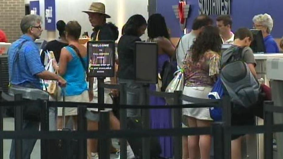 Air Travelers Stranded by Irene