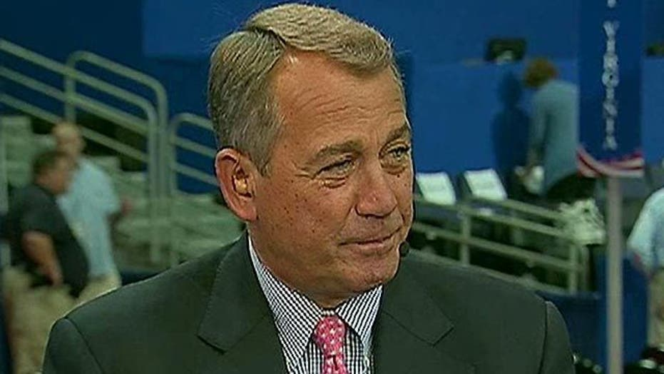 Boehner: Romney is 'the perfect guy at the perfect time'