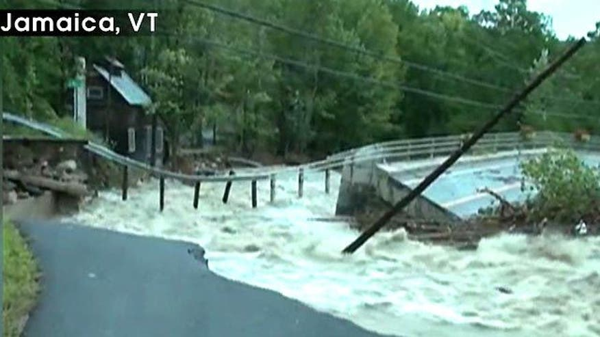 Peter Shumlin reacts to historic flooding after Hurricane Irene