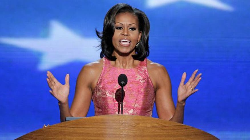 First lady addresses the DNC