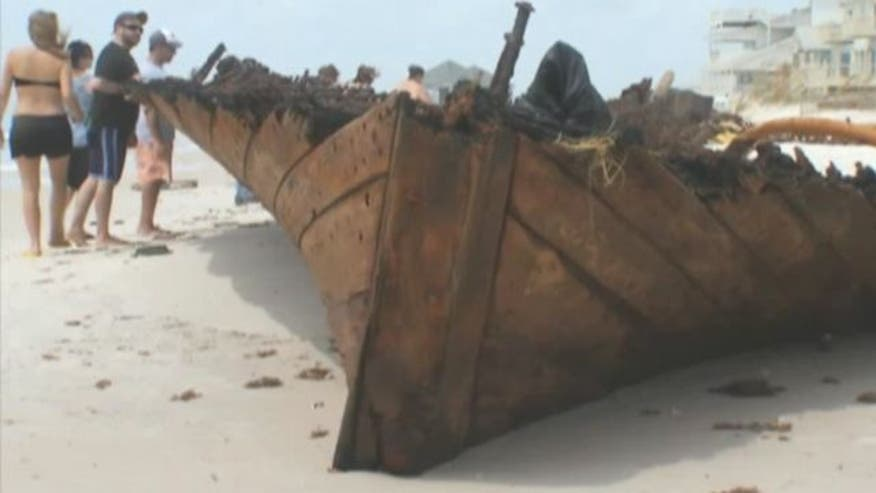 Hurricane Isaac uncovers historic ship