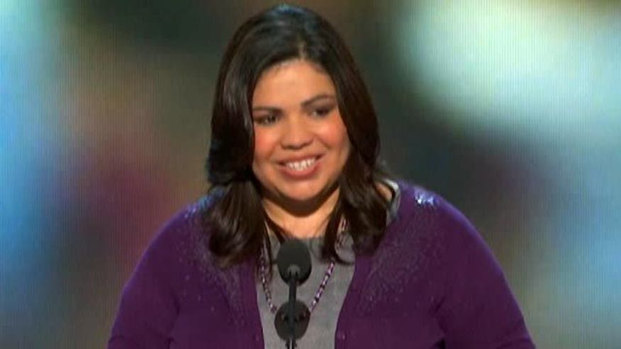 Benita Veliz addresses the DNC