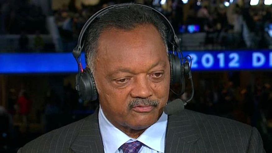 Rev. Jesse Jackson reacts
