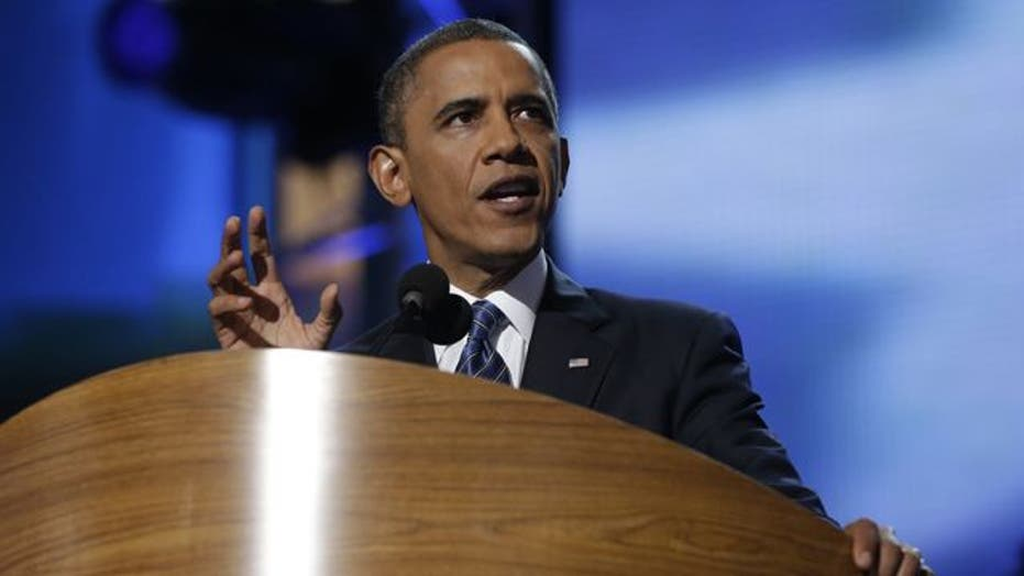 Obama presents himself as 'tested' leader in convention