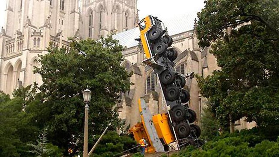 Crane Collapses on National Cathedral's Grounds