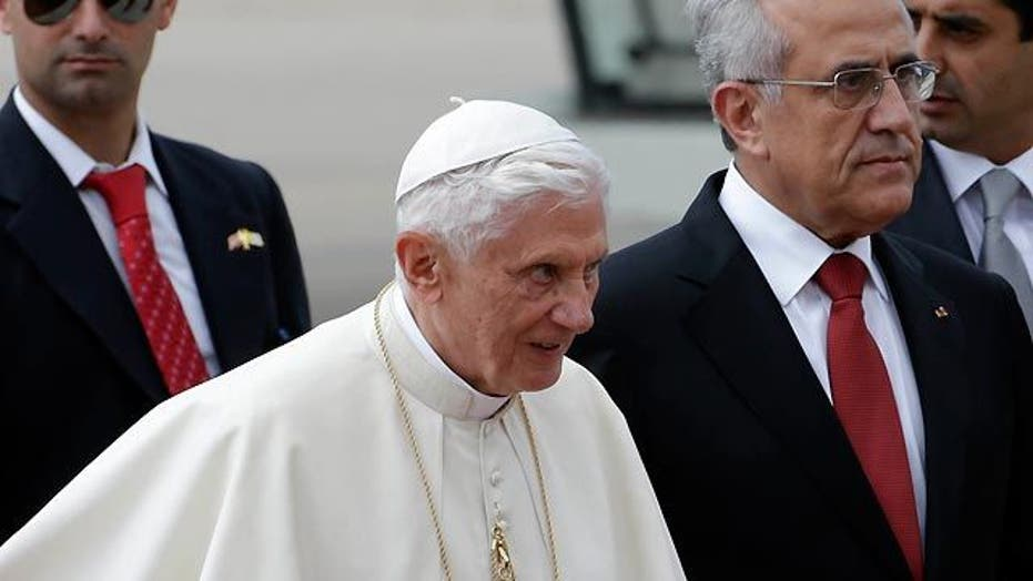 Pope Benedict XVI arrives in Lebanon on peace mission