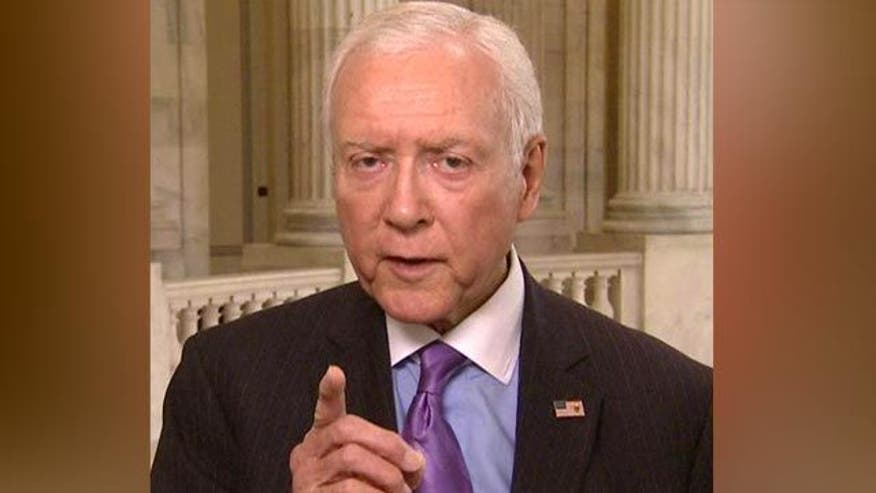 Utah Senator Orrin Hatch on green firm scandal, ties to White House