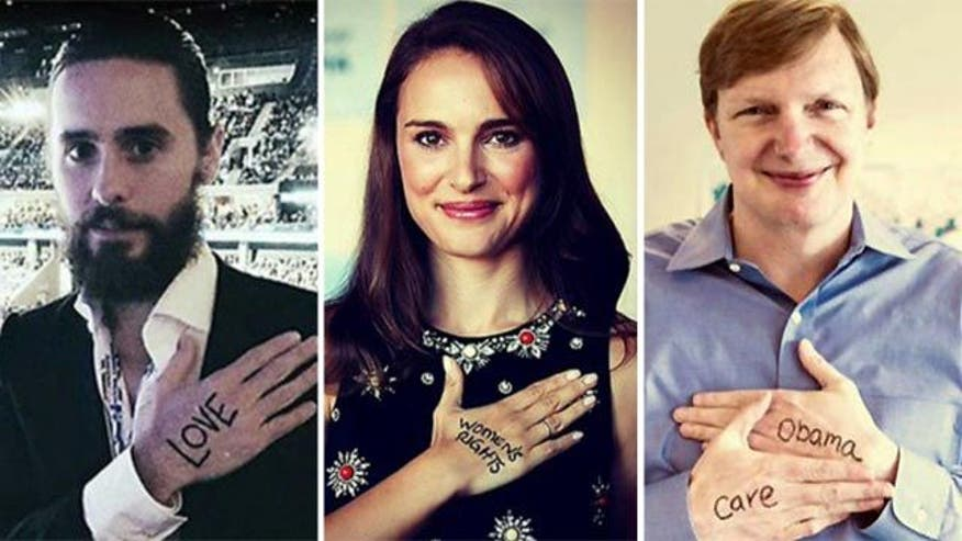 Hollywood stars pen messages of support